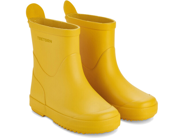 Tretorn Kids Wings Monochrome Rubber Boots Yellow